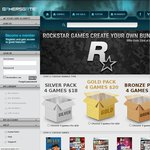 GamersGate Rockstar Weekend Create Your Own Bundle 3 Rockstar PC Games for $15 USD