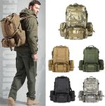 Tactical Backpack 50L Molle Detachable Pouch 5 Colors Only $49.00 Free Shipping Melbourne Stock