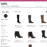 Betts Shoes - Mid-Season Sale up to 50% off  (In-Store & Online) [$5 Delivery Fee]