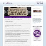 Free Weekly DVD Rentals with Donation of Can of Food for Charity - Australia Wide and NZ