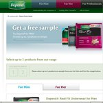 Free Sample of Two Depend Underwear Products
