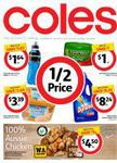 Coles 1/2 Price Deals 31/12- EG Powerade 600ml $1.64, John West Tuna $1, Peters I/Cream $3.39