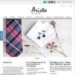 20% off @ Aristo TIES on All Ties, Bow Ties, Self Bow Ties & Pocket Squares - FREE SHIPPING