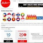 AirAsia Asean Pass - ~ $175 10 Credits, ~ $313 20 Credits - Very Cheap SE Asia Flights