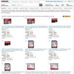 Upto 47% off SanDisk Memory Products - Amazon.com (USD)