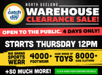 Catch of The Day Warehouse Clearance Sale - North Geelong - Victoria (26th - 29th March)