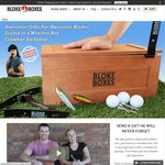 50% off Bloke Boxes - Gifts for Men - Sealed in a Wooden Box, Crowbar Included