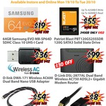 Samsung Evo 64GB SD Card $19; Patriot Blast 120GB SSD $55 Pickup + More @ MSY Mon 19th
