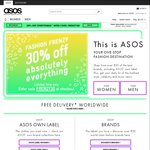 30% off Everything (Including Sale Items) at ASOS