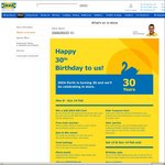 IKEA Perth Birthday: Free $30 Voucher 1st in The Door (30 Per Day) + Free Meal if You Dress up