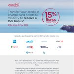 Velocity Frequent Flyer 15% Bonus Transfer in May 2016