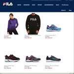 FILA Women's Shorts from $10, Sneakers from $40, Sweatshirt $20, Pullover $20 (Free Shipping over $50)