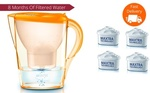 Brita Marella Water Jug (Orange) + 4 Maxtra Filters (8 Months Filtered Water) $26 Delivered @ Via Groupon