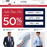 TM Lewin Shirts (Selected Styles or $25 off Sale Prices) for $25 with Free Shipping