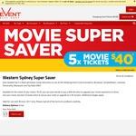 5x Adult Movie eVouchers $40 @ Event Cinemas: Valid in Burwood, Campbelltown, Liverpool, Parramatta, Macquarie & Top Ryde NSW