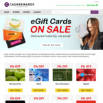 Cashrewards Launches eGift Card Portal: Jetstar 3%, EB 5%, Boost 5%, SCA 5%, Myer 3%, Rebel 5%, Hoyts 5%, BCF 5%, WISH 5% + More