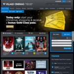 Village Cinemas (VIC/TAS) - Bonus Gold Class Voucher When Spending over $100 on Gifts