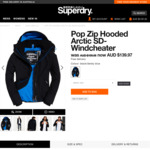 30% off Pop Zip Hooded Arctic SD-Windcheater Was AUD $199.95 Now AUD $139.97 + Free Delivery @ Superdry