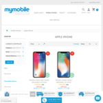 iPhone X 256GB Silver and Black - $1699 Free Shipping Australian Stock @ Mymobile.com.au