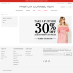 French Connection Take Further 30% off on Already Reduced Prices