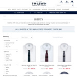All Shirts and Ties $40 + Free Delivery over $50 @ TM Lewin
