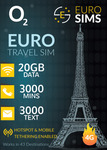 50% off All Europe Travel SIM Plans from O2 - 4G LTE Data 6GB to 60 GB, $14.99 to $34.99 Delivered @ Euro Sims