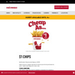 $1 Regular Chips When Purchased before 4pm @ Red Rooster (Excludes QLD)
