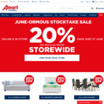 20% off Regular Prices Storewide at Amart Furniture