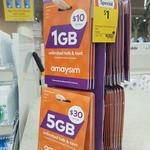 amaysim $10 SIM Starter Pack (1GB) $1 @ Coles