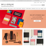 15% off Storewide @ Milligram