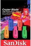 SanDisk Cruzer Blade 16GB 5 Pack USB 2.0 Flash Drive $36 (Was $56) Free C&C or + Delivery @ Harvey Norman
