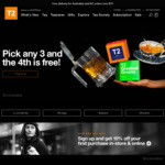 T2 Tea - Buy 3 Get 1 Free - in-Store and Online