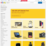 20% off 33 Selected Stores @ eBay
