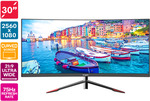 "Kogan 30"" Curved 21:9 Ultrawide 75Hz FreeSync Gaming Monitor (2560x1080) $289 + Delivery @ Dick Smith / Kogan"