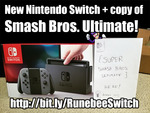 Win a Nintendo Switch with Super Smash Bros Ultimate from Runebee