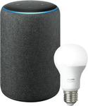 Amazon Echo Plus (2nd Gen) & Philips Hue Bulb E27 - Charcoal $129 (Free C&C or $8 Delivery) @ The Good Guys