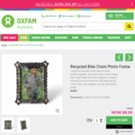 Recycled Bike Chain Photo Frame $8, Moustache Themed Mango Wood Gifts on Sale $8 - $12 @ Oxfam Shop Online