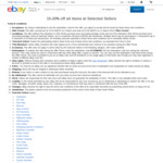 20% off 147 Stores for eBay Plus Members, 15% off for Non-eBay Plus Members @ eBay