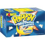 ½ Price 4-Pack of Poppin Microwave Popcorn $2.77 (69c Each) @ Woolworths