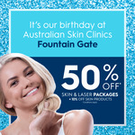 [VIC] 50% off Laser Hair Removal & SkinTreatment Packages @ Australian Skin Clinics (Fountain Gate)