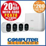 Arlo Pro 2 VMS4430P 4 Wireless Cameras $935.20 + $200 EFTPOS Card Cashback Delivered with eBay Plus @ Computer Alliance eBay