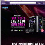 Win 1 of 2 Mwave ASUS Gaming PCs (A35i $3,499/A30i $3,199) from Mwave