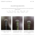 40% off Storewide: e.g.: Ultra NATO Watch Straps Seat-Belt $23.97 Delivered (Was $39.95) @ Strapify