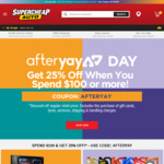 25% off RRP Sitewide (Min Spend $100) @ Supercheap Auto