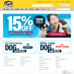 15% off Prescription Diet Dog/Cat Food + Free Delivery Over $49.99 @ My Pet Warehouse
