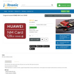 Original Huawei Nano Memory Card 128GB (90MB/s Read) $92.40 Delivered @ Joltronic