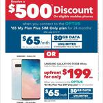 Samsung Galaxy S10 512GB White - $199 Upfront on Optus $65/Mth Plan (80GB/Mth, 24 Months) or $500 off Select Phones @ HN