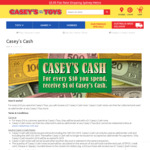 Every $10 Spend, Get a $1 Voucher for Next Purchase @ Casey's Toys