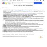 [eBay Plus] 5% off (Max Discount $100) @ Coles eBay