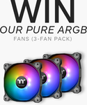 Win Thermaltake Pure ARGB Radiator Fans from Thermaltake ANZ